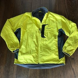 Marmot yellow green zip up front Jacket size Large